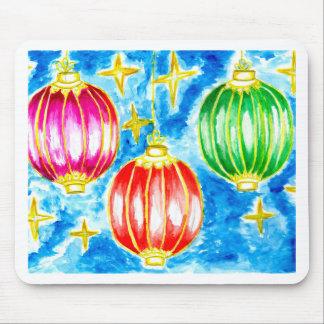 Oriental Lanterns Art Mouse Pad