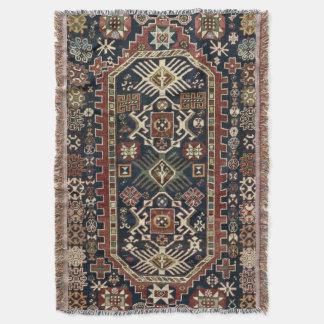 Oriental Persian Bijo 19c Rug print Throw Blanket
