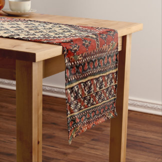 Oriental red runner pattern