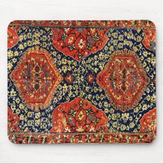Oriental rug in blue &orange mouse pad