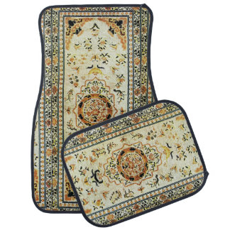 Oriental rug in light colors floor mat