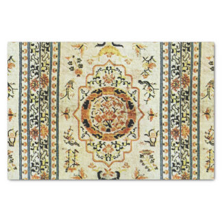 Oriental rug in  light colors tissue paper