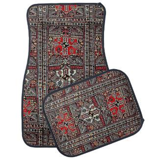 Oriental rug in red white black floor mat