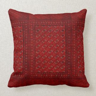 Oriental rug in reds cushion