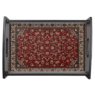 Oriental Rug Pattern Serving Tray