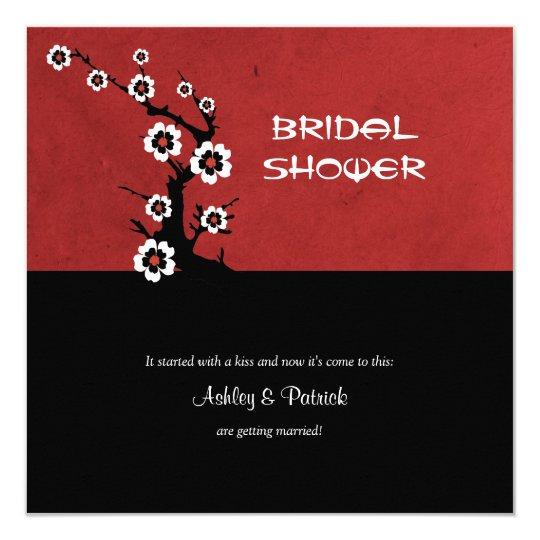 Oriental Sakura Bridal Shower Card
