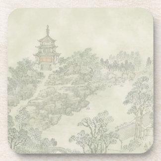 Oriental Scene Coaster Set