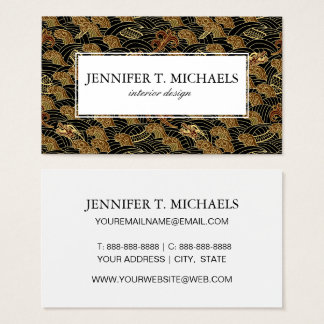 Oriental Sea Dragon Pattern Business Card