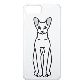 Oriental Shorthair Cat Cartoon iPhone 7 Plus Case