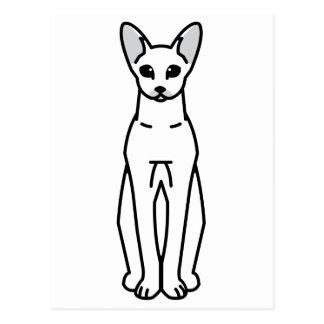 Oriental Shorthair Cat Cartoon Postcard