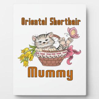 Oriental Shorthair Cat Mom Plaque
