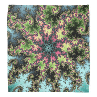 Oriental Star - colorful mesmerizing fractal art Bandana