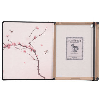 Oriental style painting, cherry blossom iPad cases