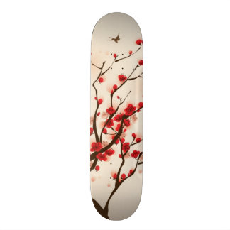 Oriental style painting, plum blossom in spring 2 skateboards