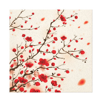 Oriental style painting, plum blossom in spring canvas prints