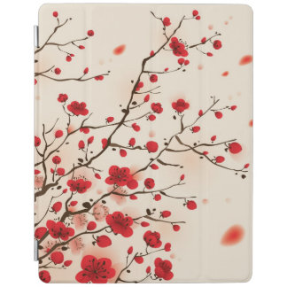 Oriental style painting, plum blossom in spring iPad cover
