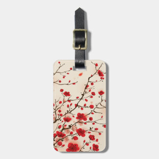 Oriental style painting, plum blossom in spring luggage tag