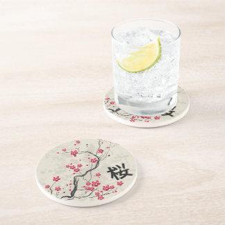 Oriental Style Sakura Cherry Blossom Art Coaster