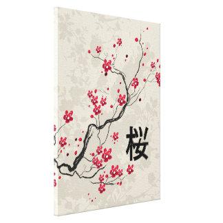 Oriental Style Sakura Cherry Blossom Art Gallery Wrap Canvas
