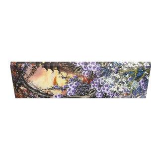 Oriental Sunset Blossom Canvas Print