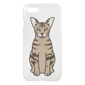Oriental Tabby Cat Cartoon iPhone 7 Case