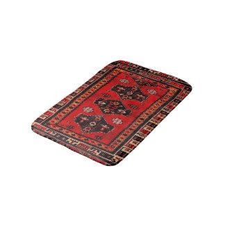Oriental tribal carpet-pattern bath mat