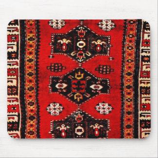 Oriental tribal carpet-pattern mouse pad