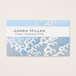 Oriental Wave Business Card (Blue)