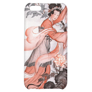 Oriental Woman and Flowers  Custom iPhone Speck Ca Cover For iPhone 5C