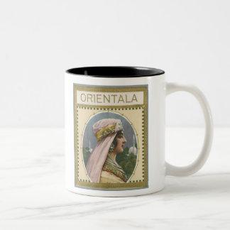 Orientala Vintage Cigar Label (exotic!) Two-Tone Mug