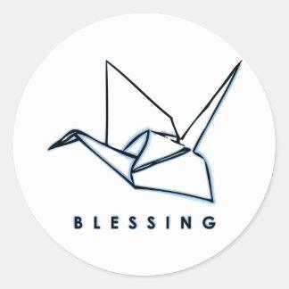 Origami Blessing Paper Crane Sticker