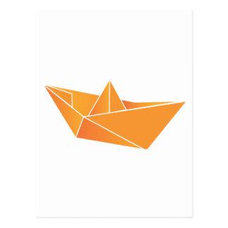 Origami Boat Postcard
