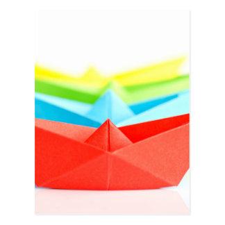 Origami Boats Postcard