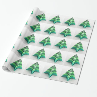 Origami Christmas Tree Wrapping Paper