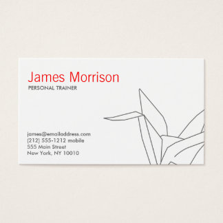 ORIGAMI CRANE 3 Business Card