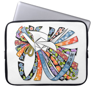 Origami Crane Japanese Paper Good Luck Noshi 折り紙 Laptop Sleeve