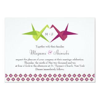 Origami Cranes Wedding 13 Cm X 18 Cm Invitation Card