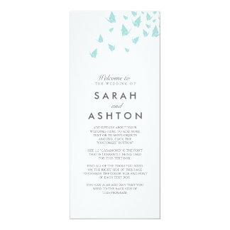 Origami Cranes Wedding Program 10 Cm X 24 Cm Invitation Card