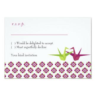 Origami Cranes Wedding RSVP cards w/ envelopes 9 Cm X 13 Cm Invitation Card