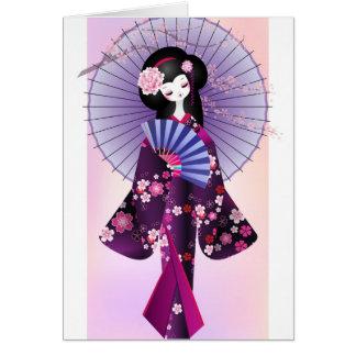 Origami Doll Greeting Card