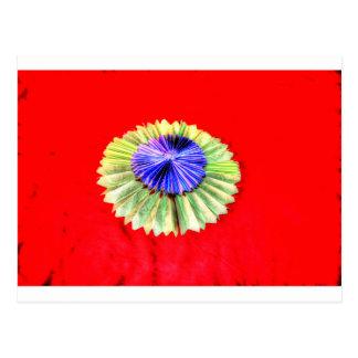 ORIGAMI FLOWER JAPANESE PAPER ART POSTCARD