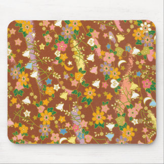 Origami Flowers & Stars Mouse Pad