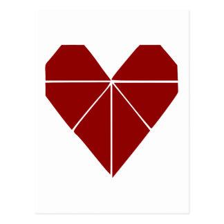 Origami Heart Postcard
