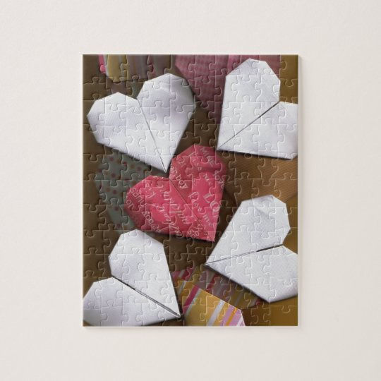 Origami Hearts Jigsaw Puzzle