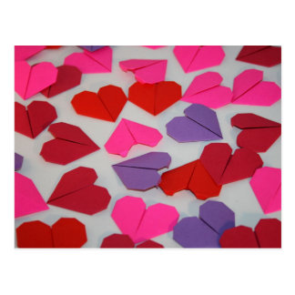 Origami Hearts Postcard