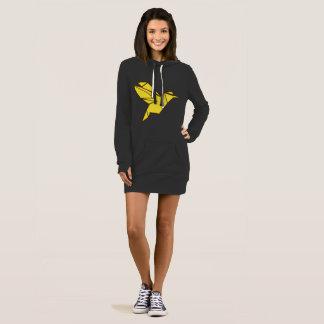 Origami hoodie dress