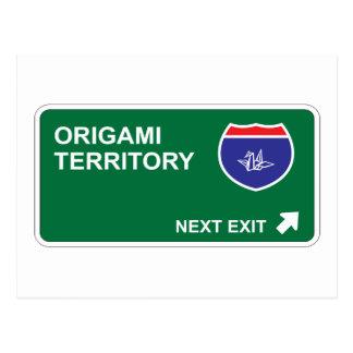 Origami Next Exit Postcard