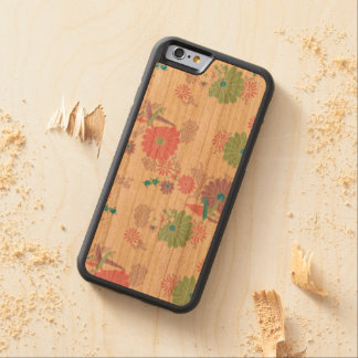 Origami Paper Cranes and Flowers Carved Cherry iPhone 6 Bumper Case
