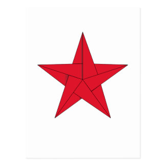 Origami Star – Red Postcard