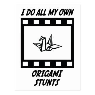 Origami Stunts Postcard